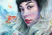 paintings of girls
