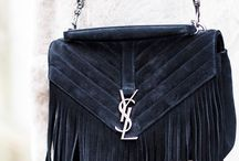 Black fringe bag