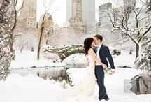 Winter Wedding / Although a beach wedding is what often springs to mind when you think of a destination wedding, a cozy winter wedding can be equally special.