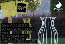 Maison&Objet 5-9 sept. 2014 / The new products that Progetti presented at Maison&Objet, Paris 5-9 September.