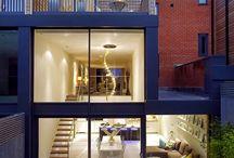 casas de tres pisos