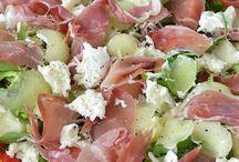 Salade /  Meloen en mozzerella