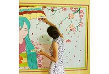 wall painting and rangoli