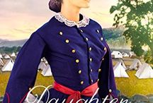 Daughter of the Regiment / A novel by Stephanie Grace Whitson, inspired by women who served regiments during the Civil War. Set in Missouri, this story introduces Irish immigrant Maggie Malone and plantation mistress Libbie Blair, who come face to face after a battle. Libbie is searching for her brother, the organizer of the Confederate Wildwood Guard. Maggie, whose brothers are part of the Union Irish Brigade, is tending the wounded.