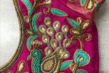 wedding blouse with saree