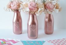 Baby shower - rose gold