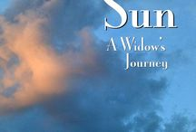 Evening Sun: A Woman's Journey / This work and this board are about the emotional journey of widowhood
