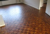 Sanding & Sealing A Wooden Basketweave Design Floor / Client: Business In Central London. Brief: To supply & install wood floor.