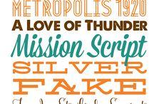 fonts and stuff / by PonyBoy Press