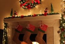 Christmas ideas decoration for fireplace