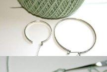 πλεκτά σκουλαρίκια
