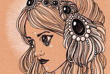 Hochulia / ink drawings
