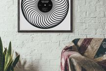 Vinyl Record Art - Interior Design / Sculptures and art made from recycled vinyl records. Interior design and decorative object that is both vintage and modern. Will easily take place in any home!