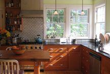 Green Walls in Kitchen