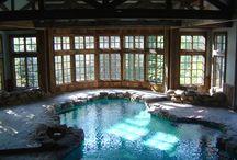 Custom Backyard Swimming Pools / Custom Swimming Pools, Pool Houses, Backyard Decks etc. in Connecticut by Litchfield Builders.