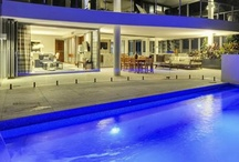 Beautiful Apartment Poolside Decor / Lovely yet durable pool seating areas.