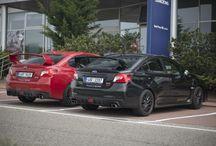 Subaru WRX STI 2015 (červená a černá)