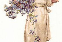 Obrazki - kwiaty, róże / Kwiaty w stylu retro, vintage, shabby chick, flower, roses