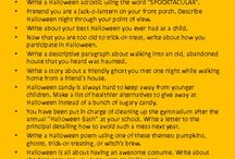 Halloween in the Classroom / Halloween teaching resources and ideas