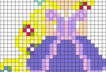disney princess graph drawings