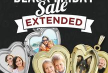 Black Friday Extended Sale 2015 / Incredible savings on Photo engraved jewelry, photo pendants, sports pendants, religious medals,  Save Big this #BlackFriday Extended Sale / by PicturesOnGold.com