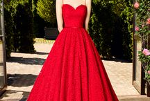Wedding dress red