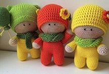 Игрушки со схемой вязания.