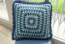 Crochet Pillows/Cushions - Gehaakte  Kussens