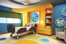 Children's hospital rooms