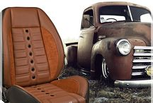 Restoration and Restomod Products / We offer a full line of restoration and restomod leather packages and trim for your classic car or vintage muscle car project - From full seats, leather packages, carpets to sun visors, emblems, headliners and more ! Check us out at canadaseatskins.com under the heading : Restoration
