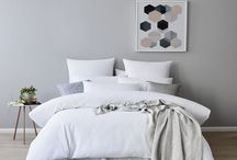 Grey and White Bed Linen