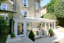 Kitchen/Conservatory / Ideas for our new kitchen. Timber frame. Glass roof.