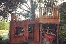 tree house and garden for children