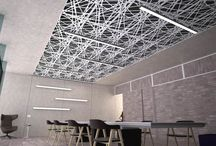 Acoustic Items / Acoustic products for interior use.  Acoustic ceilings and walls.