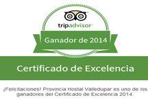 Certificado de Excelencia 2014 de TripAdvisor . / Compartimos con todos ustedes esta inmensa Alegría: Certificado de Excelencia 2014 de TripAdvisor .  Gracias a todos por ayudarnos a obtener este importante premio. GRACIAS!!! / by Provincia Hostal Valledupar Colombia