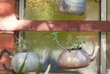 Teapots and kettles / Planters made from old teapots