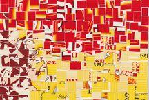 Lipton Tea Collages / Lipton Tea Collages by Michael Albert 1996-2001