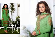 #DIYA MIRZA LATEST SUITS RANGE / A huge sparkling collection of Indian ethnic wear in our attention-grabbing online showroom whose variety is growing every month. online shopping store for Saree, Salwar Suits, Lehengas, Jewellery, Kids Wear at best price. ## http://goo.gl/Vgjvio