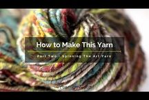 how to spin art yarn