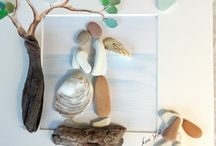 Pebble art & sea glass art / My artworks