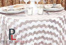 Sequins Wedding Fabric and Linens / Wedding Ideas for those who love sequins and dazzle! With these products you can add flare to any occasion and make your bride happy!