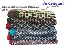 Echarpe en laine / Une sélection d'écharpes en laine douce et chaude d'himalaya. Découvrez les plus belles écharpes de l'hiver à petit prix. Grands et gros foulards en pure laine.