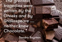 Chocolate Quotes / A selection of our favourite chocolate flavoured quotes.