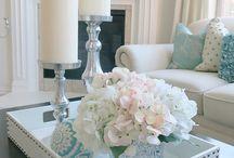 Decoración mesa blanca