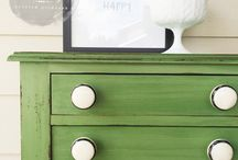 Green Ideas for Painted Furniture / Inspiration for pieces done in green.