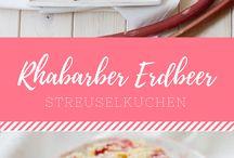 Food: Rhubarb - Rhabarber / Rhabarber Rezepte - vom Rhabarberkuchen bis zu Sirup und Kompott. / Rhubarb Recipes