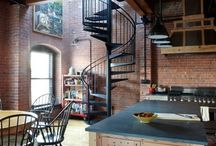Loft (лофты) / Industrial interiors Modern interiors Reclaimed wood