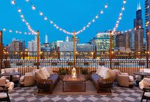 Soho House - Chicago / The Soho House in Chicago features Lucia Azul Flamed & Petit Granite Flamed stone flooring.