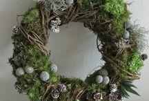 dekorace věnce / vazby, věnce, přírodniny, roční období