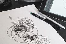 Tatoo: Oiseaux